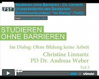"Video-Dokumentation ""Studieren ohne Barrieren"""